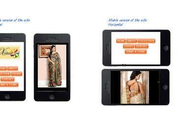 Xenas website - mobile version