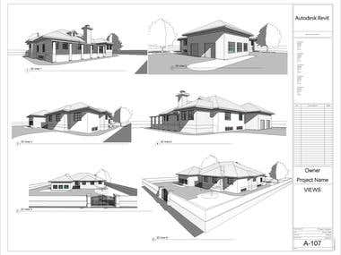 Design of 3 Bedroom House- II