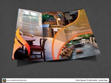 Home decor tri-fold brochure