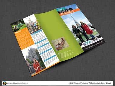 Student exchange tri-fold brochure