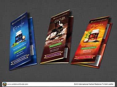 Herbal product tri-fold brochure