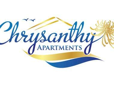 Crysanthi Appartment -Greece logo design contest winner