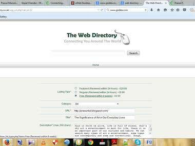 Demo Project of Web Directory Submission
