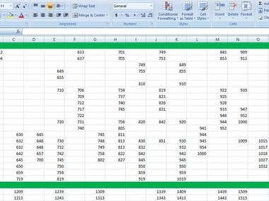 PDF to convert excel