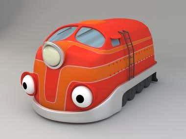 Desing and modeling of quirky locomotive character