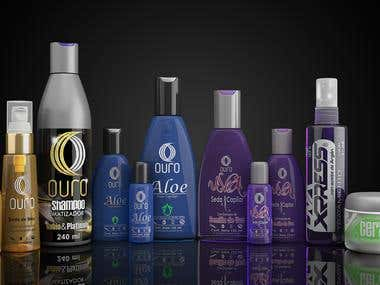 Modeling and visualization of bottles for hair products