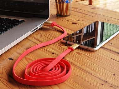 Modeling and visualization of usb cable