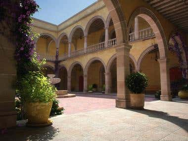 Modeling and visualization of hacienda
