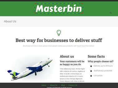 Responsive Landing Website - Wordpress