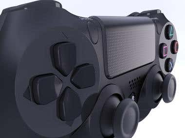Controller Ps4 - Product Visualization