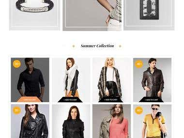 Ecommerce Website my by html5 and css3