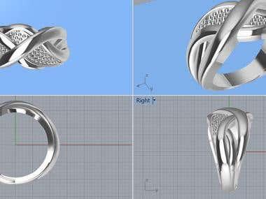 Artisic modeling ring