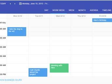 Task management on calendar