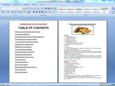 Created Cook Books