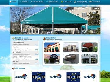 Awning selling website