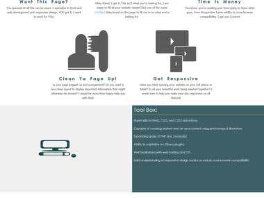 Responsive web page - YourPage