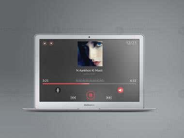 Video Player Music GUI Design