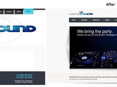 Cape Sound Website Redesign