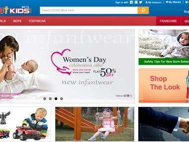 Lilliput Kids - eCommerce Website