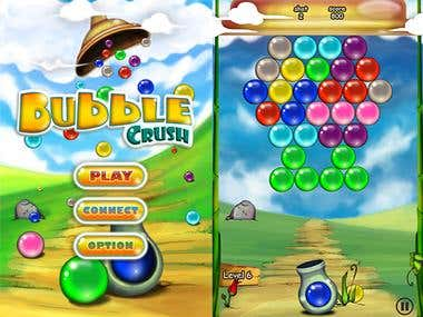 Home Screen and Gameplay Screen for Game