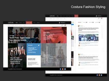 Website UI for Costura