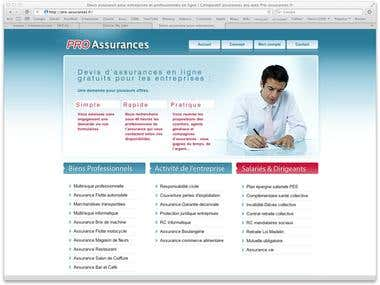 Insurance quotes PHP website