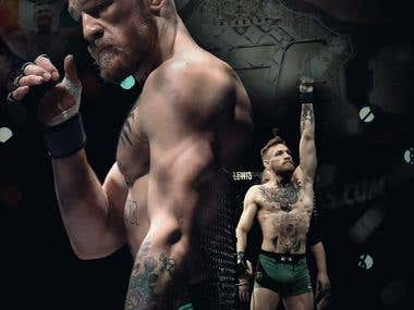 MMA Sports Poster Design`