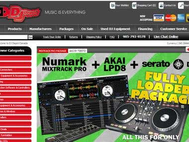 djdepot.ca ASPDNSF Website