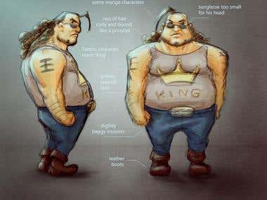 Character Design - King