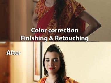 Photo finishing and color correction