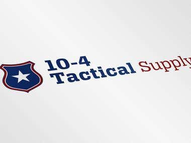10-4 Tactical Supply Logo Design