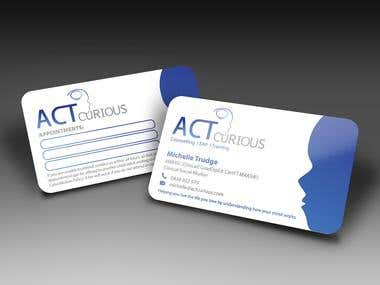 Act Curious Business Card Design