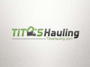 Tito's Hauling Logo Design