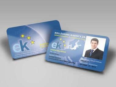 Európa Kollégium ID Card Design