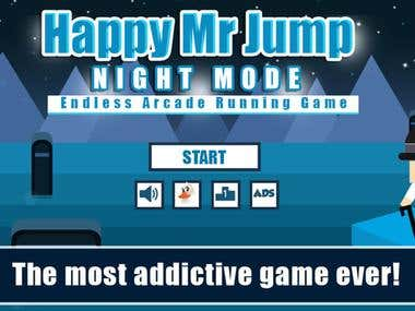 Game Development (Happy Mr Jump Night Mode)