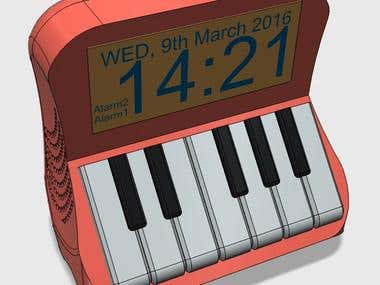 Piano Clock Design