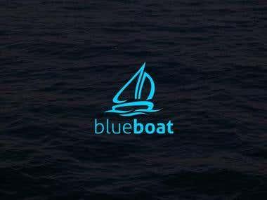 Logo for Blue Boat Banner