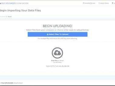 File Uploader - Tabular Data Upload & Import