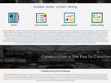 responsive web design -scribble writers