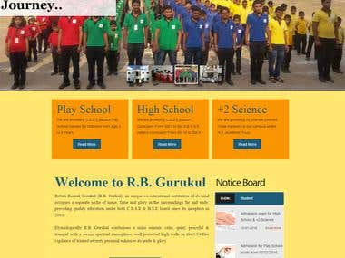 #socialmedia for Education Website - R.B. Gurukul