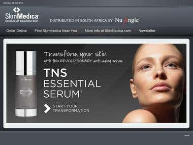 Joomla Virtuemart for Skin Product Company
