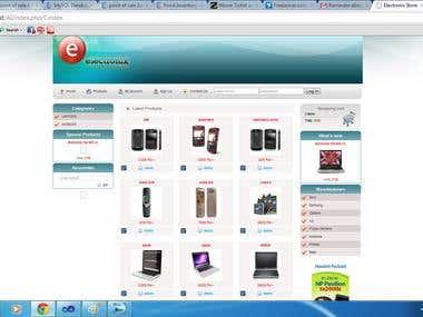 AI E commerce web