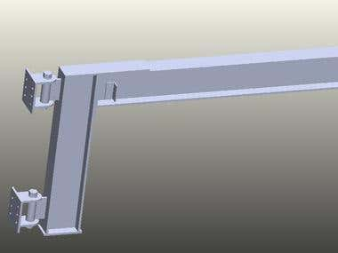 Design and 3D Modeling Of Wall Mounted Jib Crane