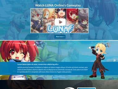 Luna Online Gaming website