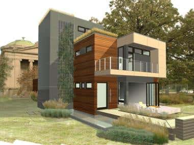3d Home in sketchup + rendering