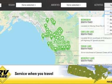 BC Explore Parks map