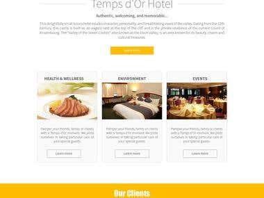 Tempsdor Hotel Website