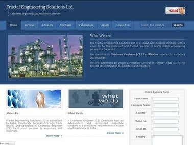 UK based Chartered Engineer Certificate Website