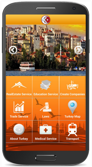Travel to Turkey Native mobile application