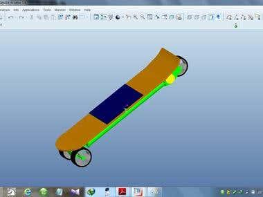 3D Modeling Of Solar Powered Skate Board
